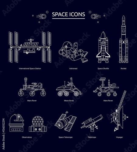 Obraz na plátne Space icon
