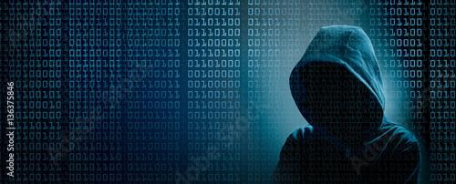 Fotografia the dark web  hooded hacker banner