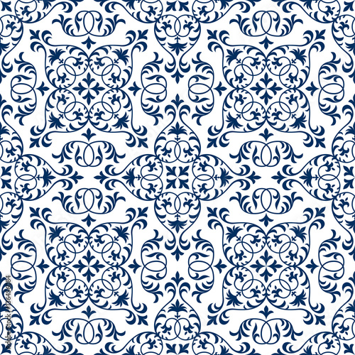 Seamless patchwork pattern from ornate tiles, ornaments. Can be used for wall...