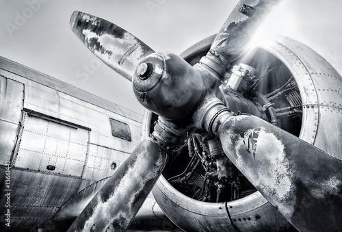 Canvas Print engine of an aircraft