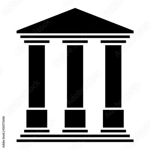 Temple 3 colonnes Fotobehang