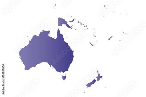Wallpaper Mural map violet oceania