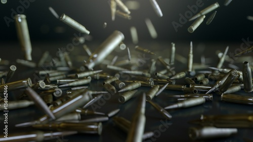 Fotografiet Bullets flight