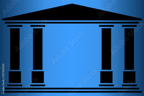 Canvas Temple 4 colonnes (2). Fond nuit