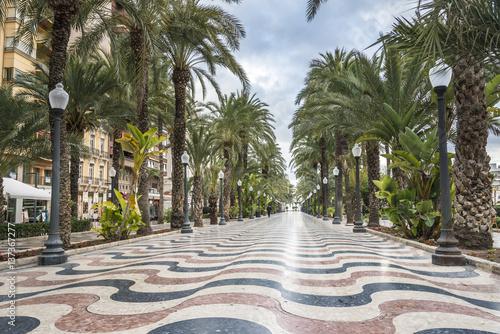 Valokuvatapetti The promenade Explanada, Alicante, Costa Blanca, Valencia, Spain