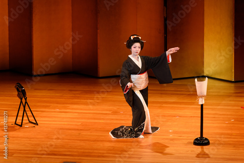 Canvas Print Japanese dance