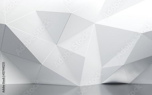 Fototapeta premium streszczenie ściany wewnętrzne z wieloboczną wzór