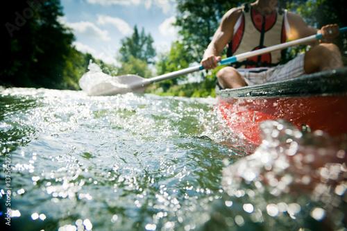 Fotografia Young Man Canoeing