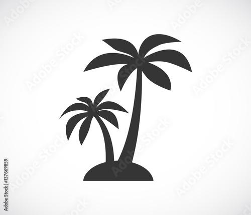 Obraz na płótnie palm tree island icon