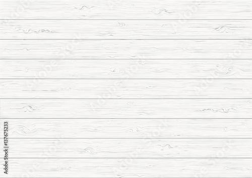 Fototapeta White wood plank texture background