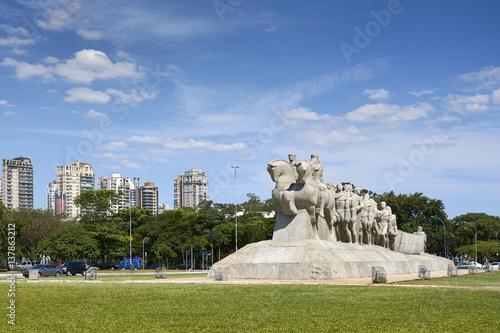 The Bandeiras monument in Sao Paulo, Brazil.