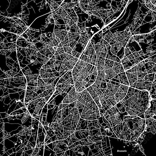 Fototapeta Brussels Vector Map