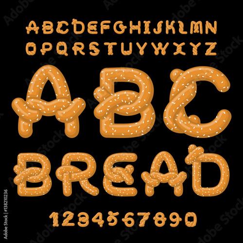 Canvas Print Bread ABC
