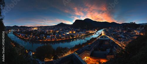Fototapeta premium panorama salzburga w austrii