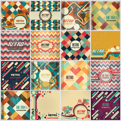Wallpaper Mural Old retro Vintage style background Design Template