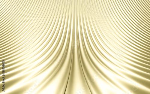 Fototapeta premium Złocisty abstrakcjonistyczny wizerunek linii tło. Renderowania 3d