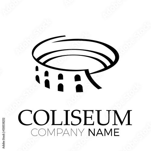 Cuadros en Lienzo Vector abstract coliseum, Rome. Italian symbol