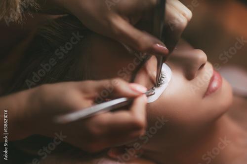 Procedure Eyelashes Extension Fototapeta