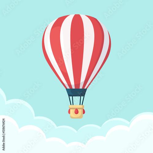 Obraz na płótnie Hot air balloon in the sky with clouds