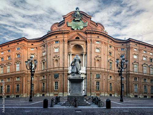 Carta da parati Piazza Carignano, one of the main squares of Turin (Italy) with Palazzo Carignan