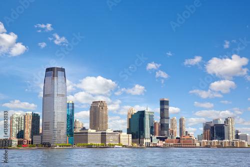 Obraz na plátně New Jersey skyline over Hudson River, United States