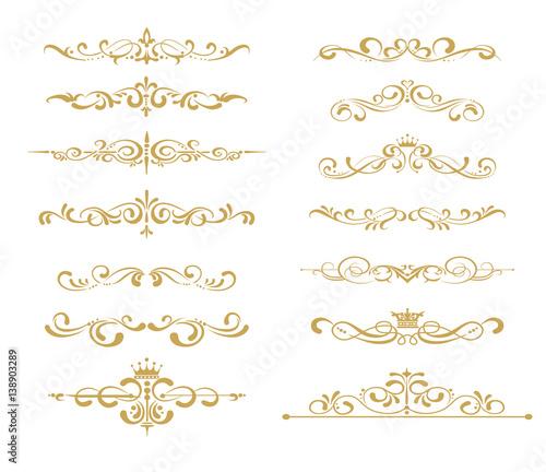 Fotografia Gold element vector