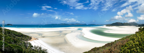 Canvas Print panoramic view of , Whitehaven Beach, Whitsunday Islands, Australia