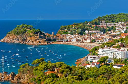 Canvas-taulu Tossa de Mar, Costa Brava, Spain