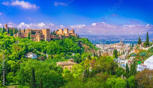 Alhambra palace, Granada, Andalusia, Spain.