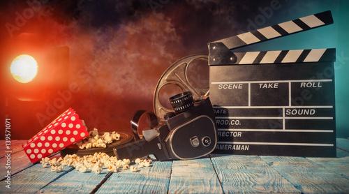 Fotografia, Obraz Retro film production accessories still life.