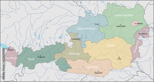 Fotografia Map of Austria