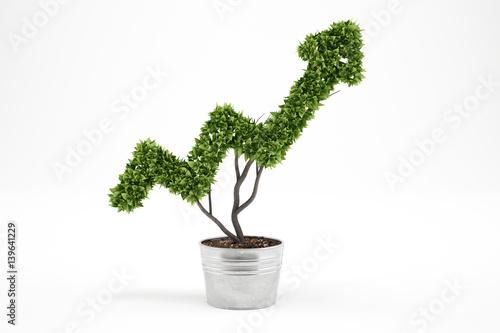 Valokuva Growing the economy company . 3D Rendering