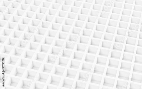 Fototapeta premium Biały abstrakcjonistyczny wizerunek sześcianu tło. Renderowania 3d