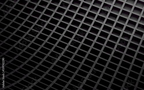 Fototapeta premium Czarny abstrakcjonistyczny wizerunek sześcianu tło. Renderowania 3d