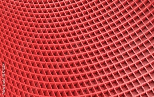 Fototapeta premium Czerwony abstrakcjonistyczny wizerunek sześcianu tło. Renderowania 3d