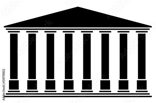 Temple 8 colonnes Fotobehang