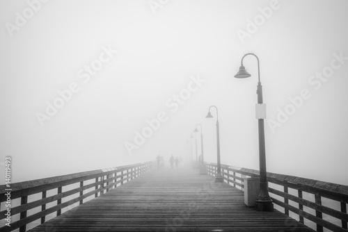 Pier Fog 3 (B&W)