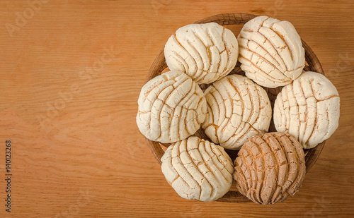 Photographie Mexican Conchas sweet bread