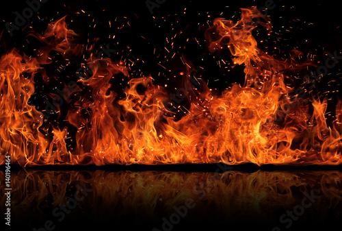 Fotografie, Tablou Firestorm texture