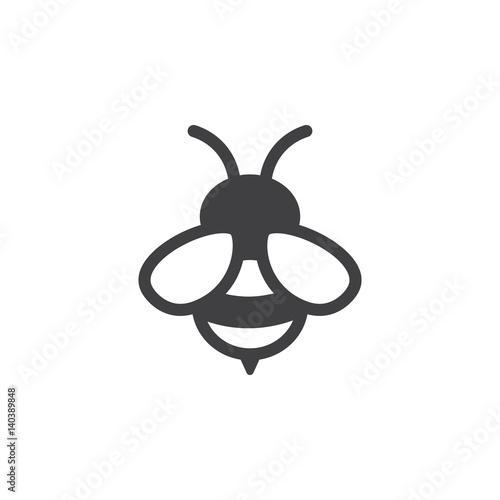 Obraz na plátne bee icon on the white background