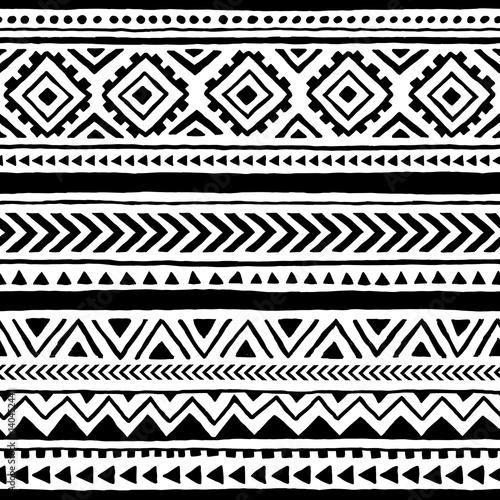 Obraz na plátně Seamless ethnic and tribal pattern
