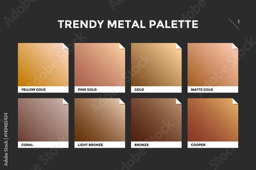 Vászonkép Gold, copper and bronze gradient template