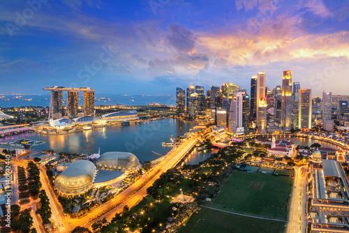 Canvas Print Singapore city