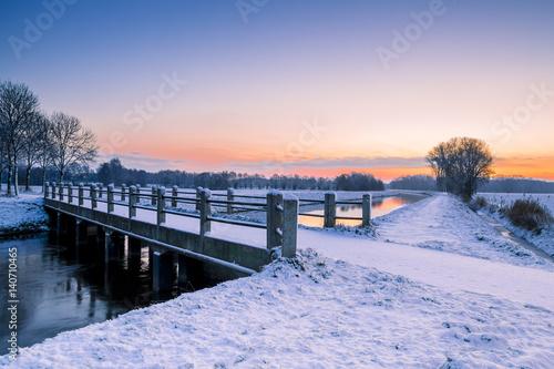 Fototapeta Early morning winter scenery