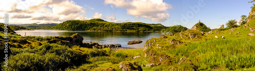 Fotografie, Obraz Schottisches Seepanorama bei Oban