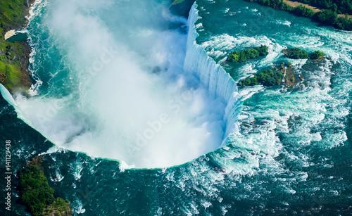 Obraz na płótnie Aerial view of Niagara falls, Canada