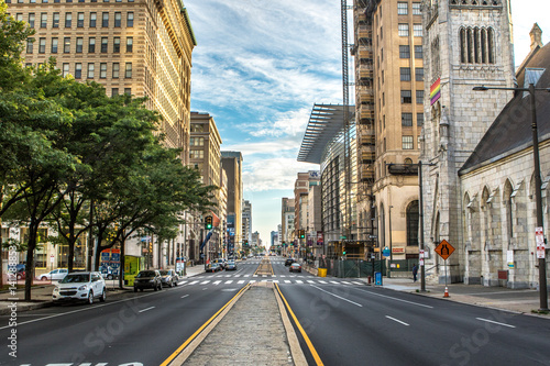 Fototapeta Buildings in the Center City of Philadelphia, Pennsylvania.