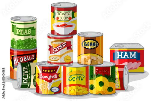 Różne rodzaje konserw