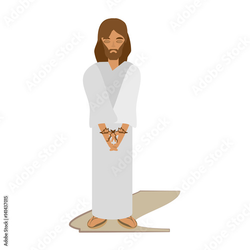 jesus christ sentenced death - via crucis vector illustration eps 10 Fototapeta