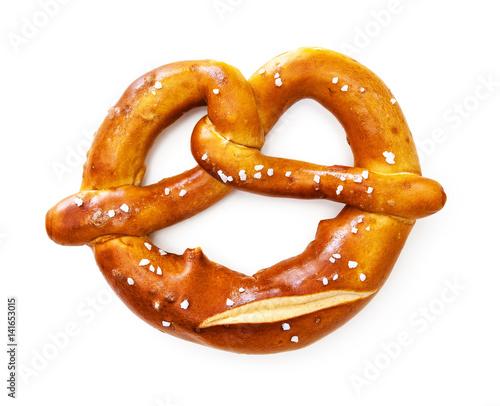 Fototapeta Bavarian pretzel isolated on white